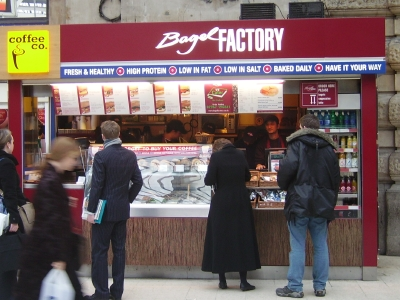 Bagel Factory At Waterloo Station