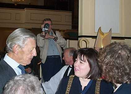 Sir Angus Ogilvy chats with Cllr Clare Whelan