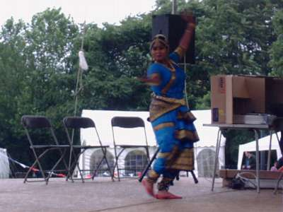Indian dancing at Mint  Street Park