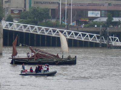 Barge on the Thames