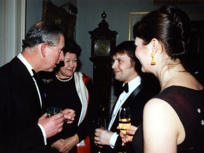 Kelvin Macdonald with Prince Charles