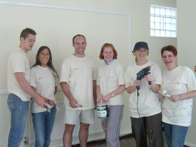 Deutsche Bank volunteers at the <a href=