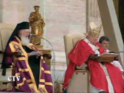Ecumenical Patriarch and Pope