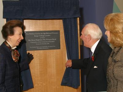 HRH The Princess Royal with Lord and Lady Wolfson
