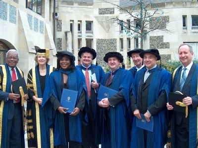 Honorary degrees at Southwark  Cathedral