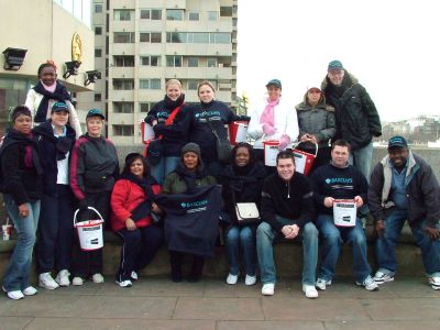 Barclays staff sponsored walk for medicinema