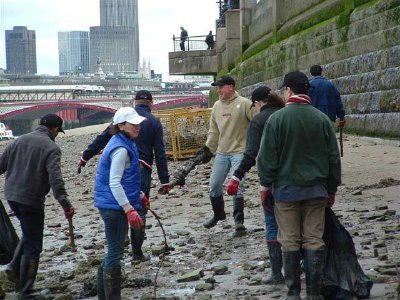Savoy staff on foreshore