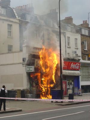 Fire in Clapham Road