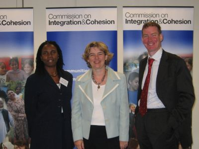 Decima Francis, Ruth Kelly and Nick Stanton at the
