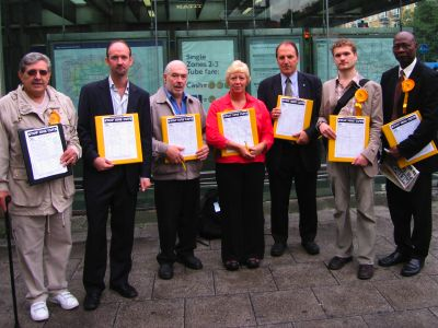 Councillors outside Bermondsey station