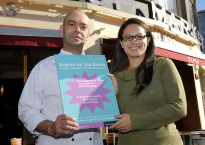 Jose Pizarro from Tapas Brindisa with Cllr Lisa Ra