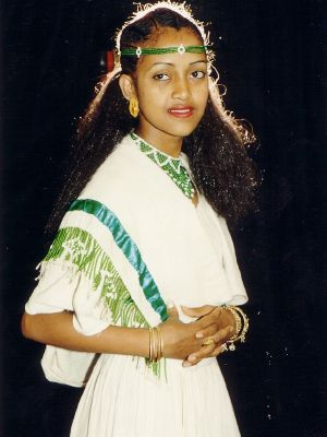 Asmeret Tesfazghi in traditional dress