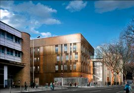 Visualisation of the new student centre and primar