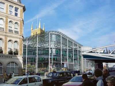 Visualisation of the proposed glazed market hall o