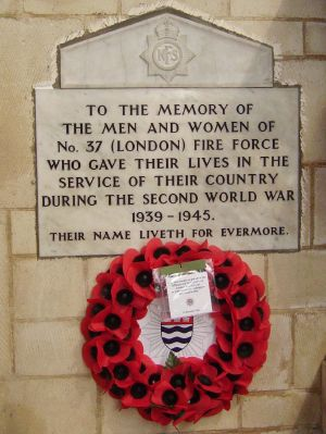 Fire Brigade memorial at Southwark Cathedral