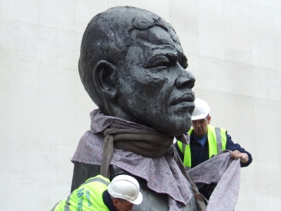 Nelson Mandela sculpture returns to South Bank