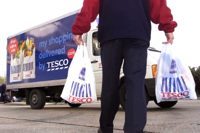 A Tesco.com delivery van