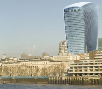 20 Fenchurch Street seen from south of the river a