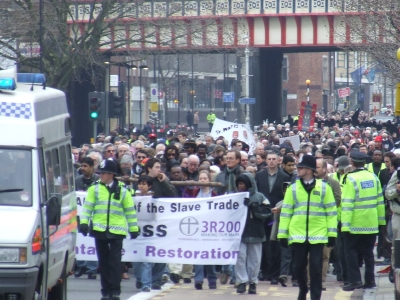 The walk of witness in Lambeth Road