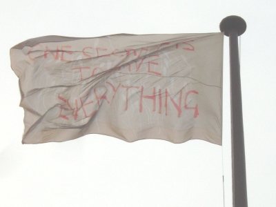 Tracey Emin flag unveiled on South Bank