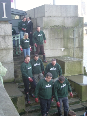 Hotel managers join County Hall river clean-up