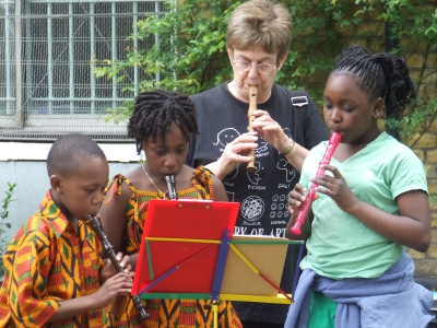 Pupils from the Borough Music School perform in St