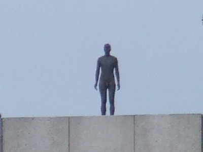 Sculpture on the roof of the London Television Cen