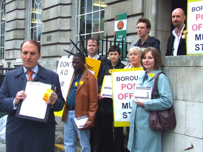 Simon Hughes at Borough Post Office