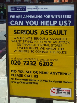 Police witness appeal at the junction of Decima St