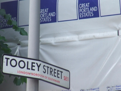 Under wraps: Southwark Council's new Tooley Street