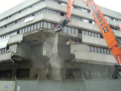 County Hall annexe demolition