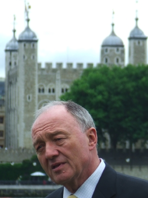 Ken Livingstone in Potters Fields Park