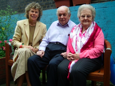 Kate Hoey MP with Lou and Len Shepperd