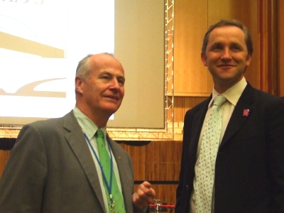 Chief executive Michael Lynch with James Purnell M