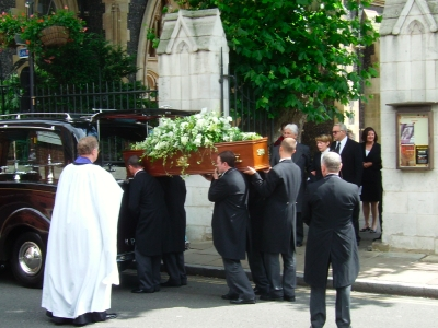 Terence Driscoll's funeral was held at Southwark C