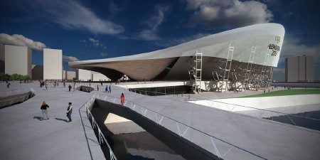 Rendering of the London Olympics Aquatic Centre