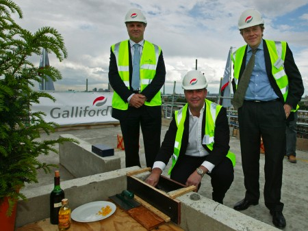 Topping out ceremony at Bermondsey Square
