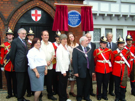 Unveiling of Octavia Hill blue plaque