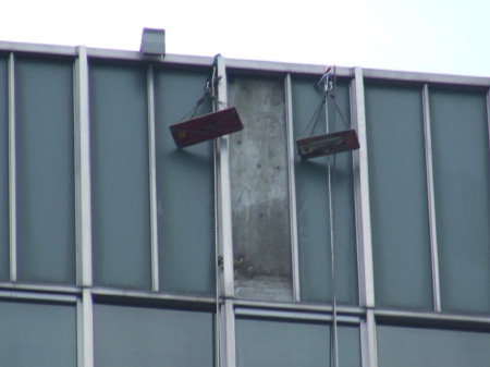 Missing cladding at Hannibal House