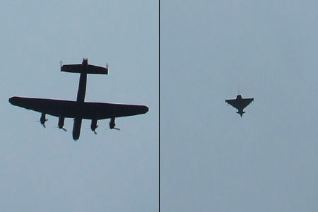 Lancaster and Eurofighter Typhoon