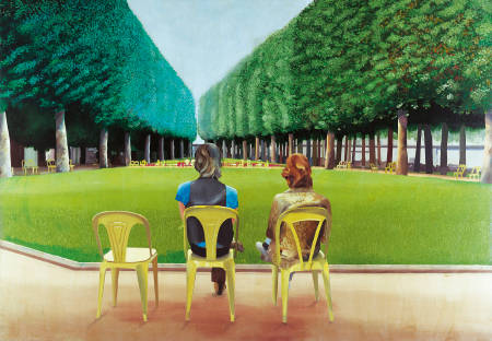 David Hockney - Le Parc Des Sources, Vichy (1970)