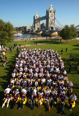 Massage world record set in Potters Fields Park