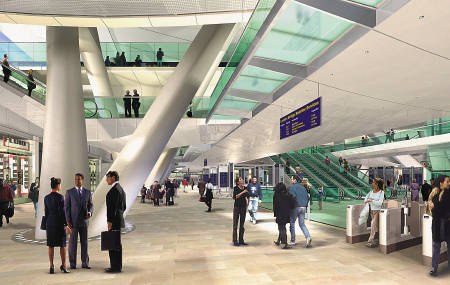 Proposed new concourse at London Bridge Station