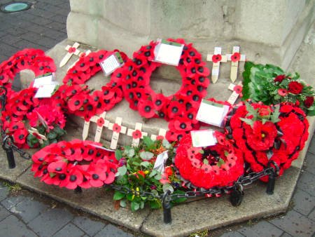 Wreaths at the Borough War Memorial