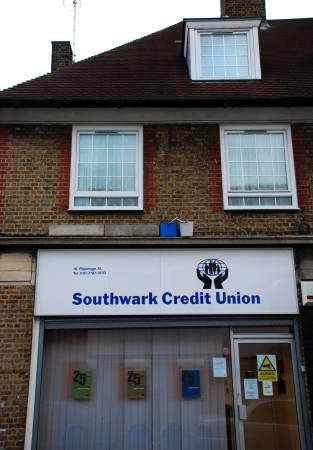 Southwark Credit Union's branch in Pilgrimage St