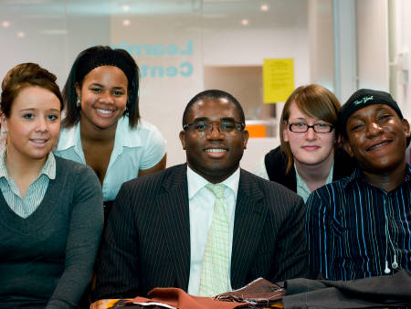 David Lammy with FTM students