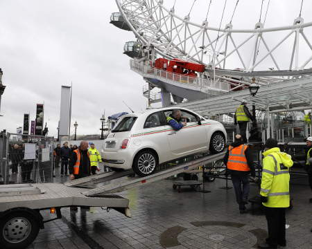 Car installed in London Eye pod