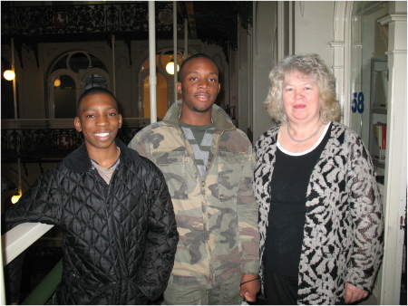 Aldaine and Charles with Jean Lambert MEP