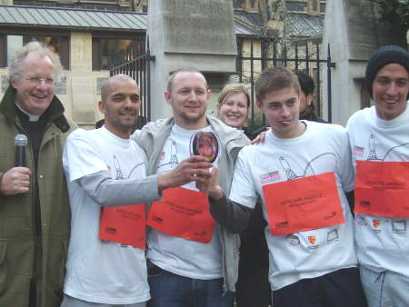 Colin Slee and Medicare First pancake race team