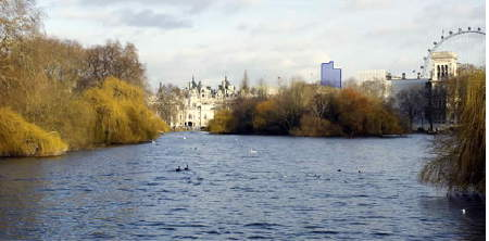 View of Doon Street from St James's Park